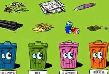 小孩垃圾分类卡通图片展示