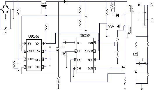 此芯片集成pfc控制电路和pfcic电源开关管在轻载或无载时自动关断